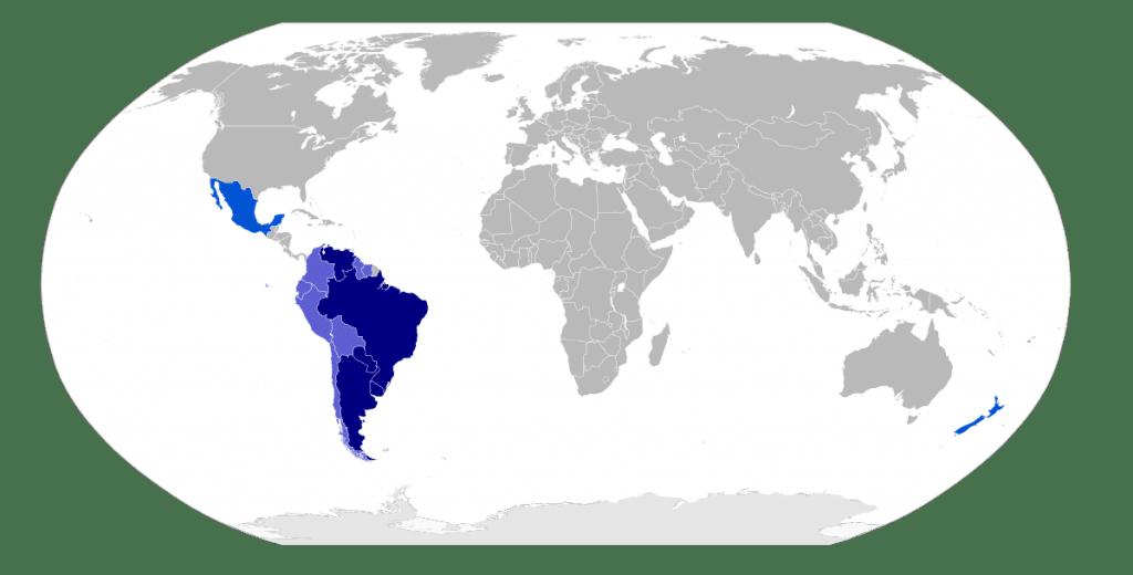 Mercosul mapa