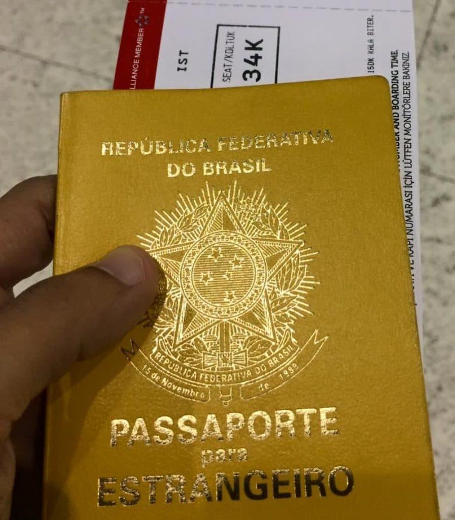 passaporte para estrangeiros